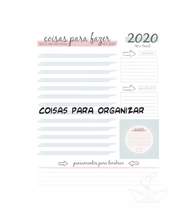 Kit Digital:: Agenda 2020 Azul e Rosa