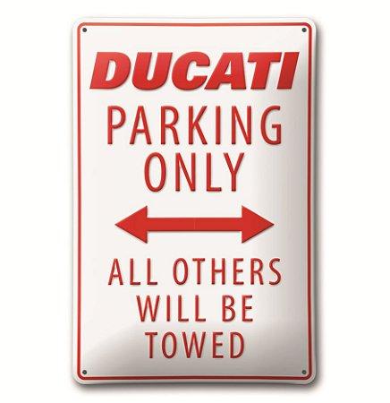 "Placa Ducati ""Parking"""