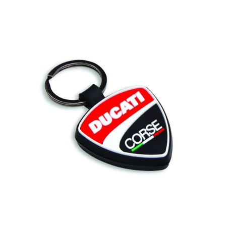 Chaveiro de borracha Ducati Corse Shield