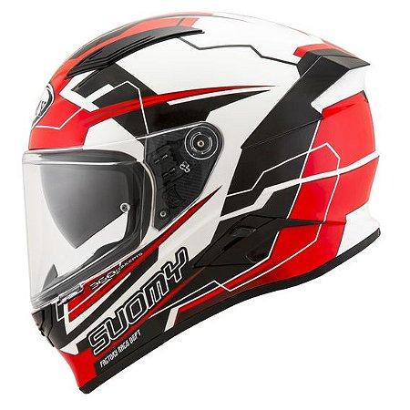 Capacete Suomy SpeedStar Camshaft Black/White/Red