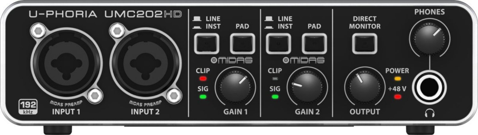 Interface de Áudio USB Behringer UMC202HD