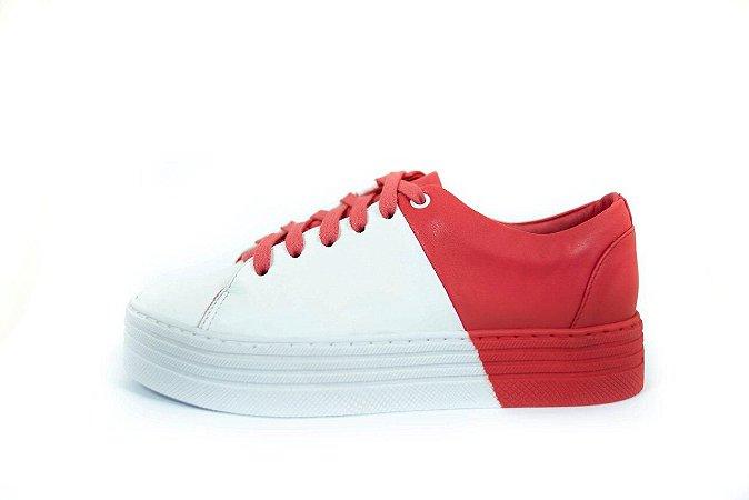 Tenis Mau Mau - 7044186 - Vermelho e Branco