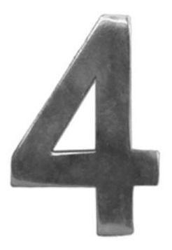 Algarismo Alumínio Luxo  n°4 - PRIME ALUMINIO