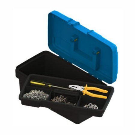 Caixa de Ferramentas Azul PVC 14 C/Bandeja - VALEPLAST