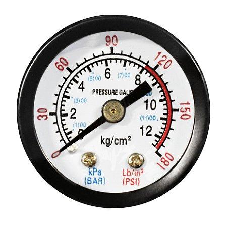 Manômetro 180 LBS 120/180 40MM 1/8 BSP MUPAC - CHIAPERINI