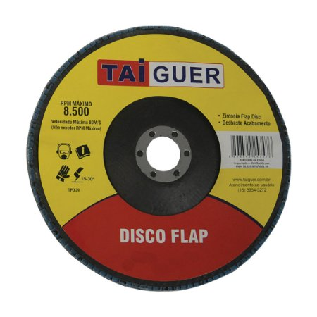 Disco Flap Zircônia 180mm Gr80 - TAIGUER