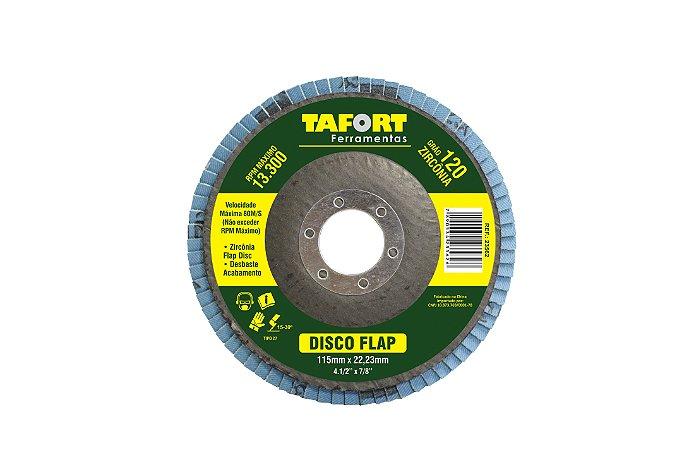 Disco Flap Zircônia 115mm Gr120 - TAFORT