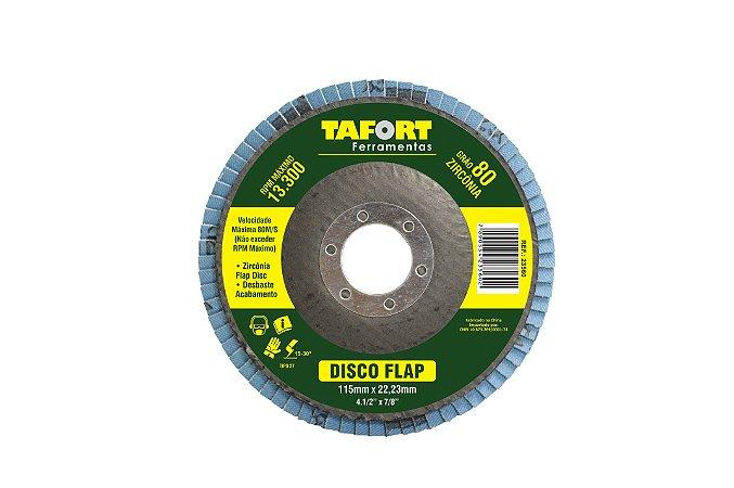 Disco Flap Zircônia 115mm Gr80 - TAFORT