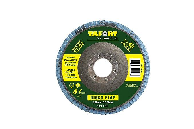 Disco Flap Zircônia 115mm Gr40 - TAFORT*
