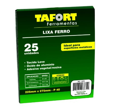 Lixa Ferro Gr 040 (25Pcs) - TAFORT