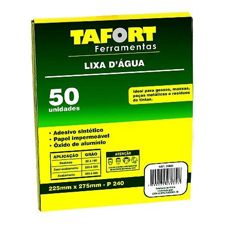 Lixa D'Água Gr 240 (50Pcs) - TAFORT