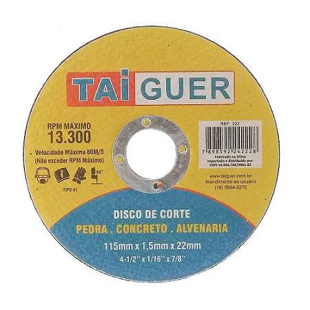 Disco De Corte Para Alvenaria- 115X1.5X22mm - TAIGUER