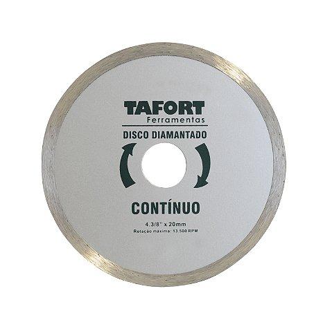 Disco Diamantado Liso 4.3/8 Pol (110mm x 20mm) - TAFORT
