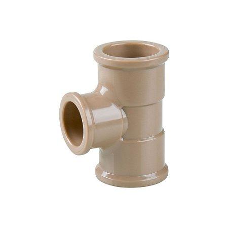 Tê Redução Soldável 40mm X 25mm Pct/10 - PLASTUBOS