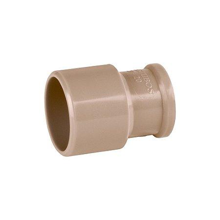 Bucha Redução Soldável Longa 60mm X 25mm Pct/10 - PLASTUBOS