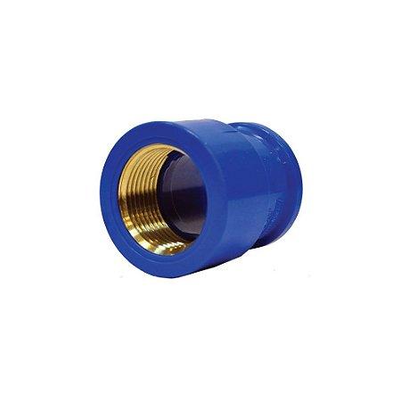 "Luva Azul Com Bucha Latão 20mm X 1/2"" - MULTILIT"