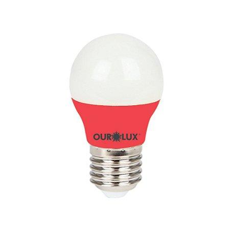 Lâmpada Super Led S30 Colors 3W Bivolt Vermelho - OUROLUX