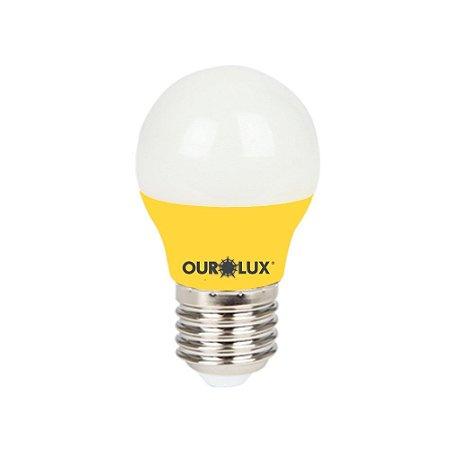Lâmpada Led Bolinha Amarela 3W Bivolt - OUROLUX