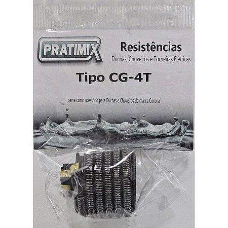 Resistência de Chuveiro  4T Gorducha 127V 5400W - Tipo Cg 4T - PRATIMIX