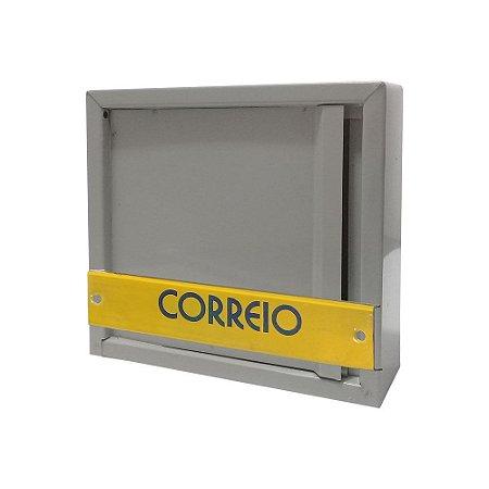 Caixa de Correio Chapa Vertical Para Grade 23x23x8cm - 2 IRMÃOS