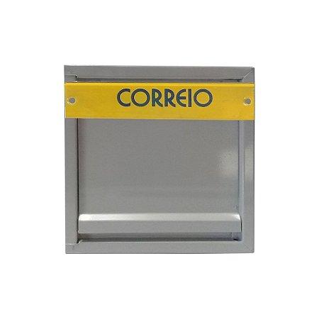 Caixa de Correio Chapa Horizontal Para Grade 23x16x10cm - 2 IRMÃOS