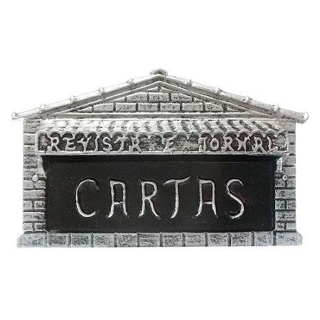 Caixa De Correio Carta Tijolinho Prata 15x15x25cm - 2 IRMÃOS