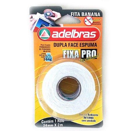 Fita Dupla Face Espuma - 24mm X 2M - ADELBRAS