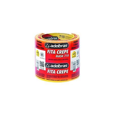 Fita Crepe 710 - 48mm X 50M  Pct C/2- ADELBRAS
