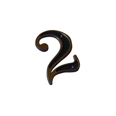 Número Plástico Dourado Para Residência N2 PCT/10 - EMAVE