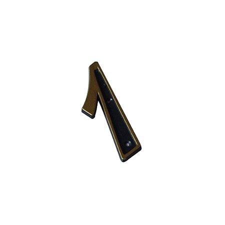 Número Plástico Dourado Para Residência N1 PCT/10 - EMAVE