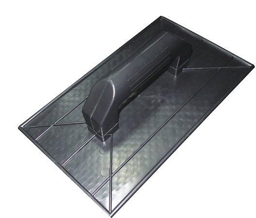 Desempenadeira Plástica Corrugada Preta 18X30cm - EMAVE
