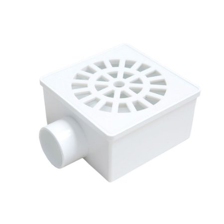Ralo Quadrado Sifonado 10X10cm Grelha Branca - FERE