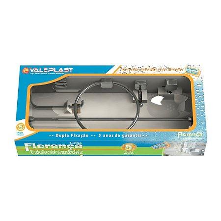 Kit Para Banheiro Abs (5 Pcs) - Florença - VALEPLAST