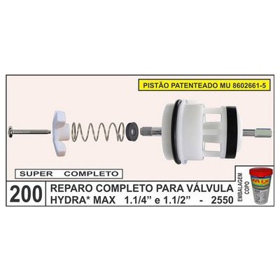 Reparo Completo Para Válvula Hydra Max 1.1/4 E 1.1/2 - 2550 - Mix Plastic