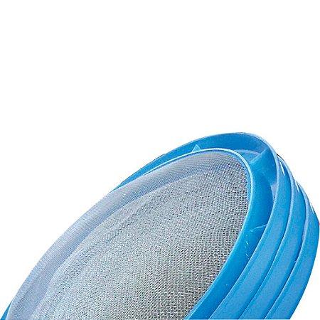 Peneira Cal 55cm Aro Plástico Azul  - TELAS MM