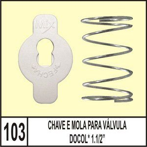 Chave e Mola Para Válvula Docol 1.1/2 - Mix Plastic