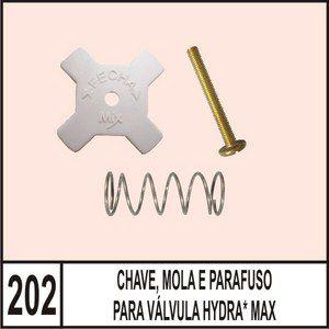 Chave, Mola E Parafuso Para Válvula Hydra Max - Mix Plastic