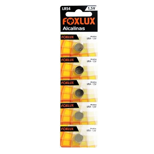 Bateria Alcalina 1,5V  LR54  Blister C/5 - FOXLUX