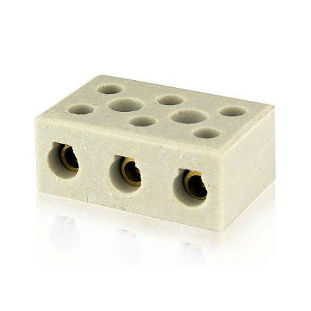 Conector De Porcelana Tripolar 16mm Cx 12 - FOXLUX