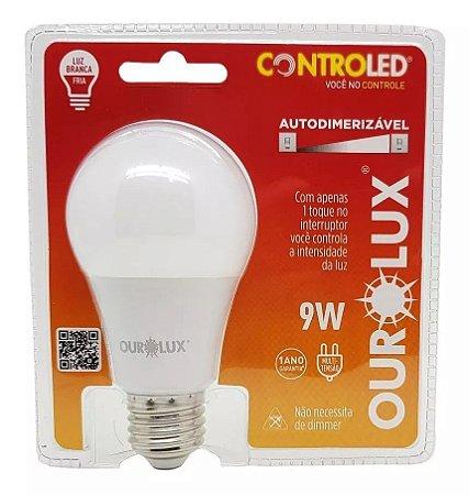 Lâmpada Led Controled 3 Tons 9w Biv 6500K - OUROLUX