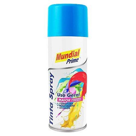Tinta Spray 400ml Uso Geral Azul Medio - MUNDIAL PRIME