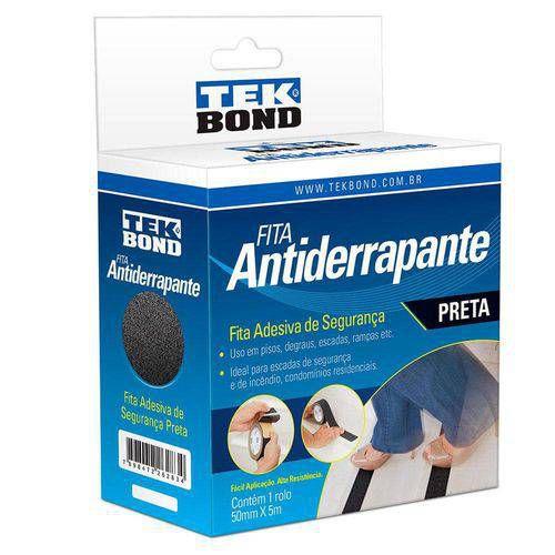 Fita Antiderrapante Preta 50mmx5m - TEKBOND