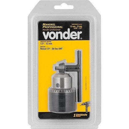 "Mandril Leve 13mm - 1/2"" Rosca 1/2"" - VONDER"