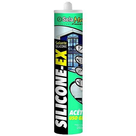 Silicone Acético Cinza 240g  - SELAMAIS