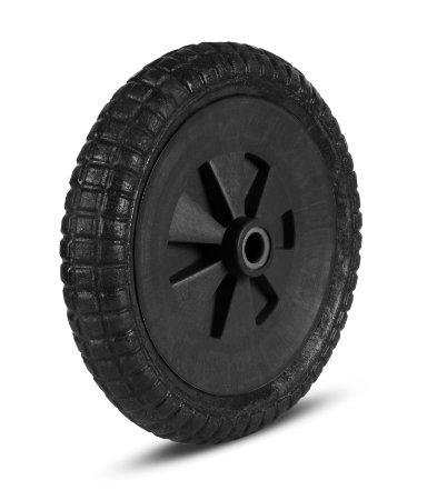 Roda P/Carriola 37,5x7,5 Pneu Maciço Eixo 1 ''REF.7030-2 - ROMA
