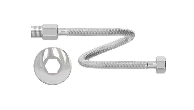 Engate Flexível de Aço Inoxidável 1/2'' x 60 cm Ref. 7546 - CENSI