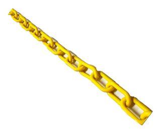 Corrente De Plástico Elo Curto Amarela 6mm (50M) - TAFORT