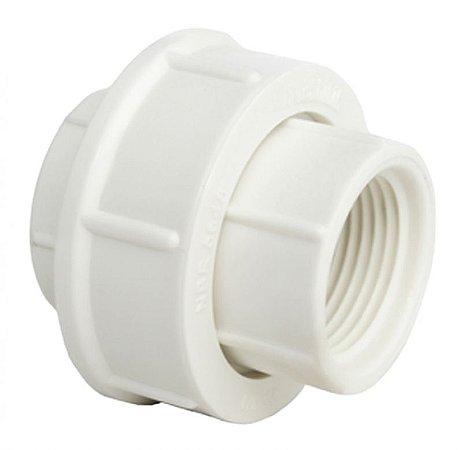 União Roscável 1 Branco Pct/10 - PLASTUBOS