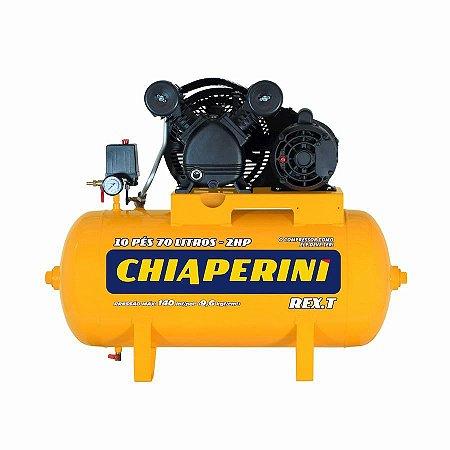 Compressor De Ar 10 Pés 70 litros REX.T C/MM 2HP 110/220V IP21 - CHIAPERINI