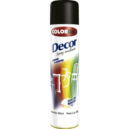 Tinta Spray Decor Preto Brilhante - SHERWIN-WILLIAMS